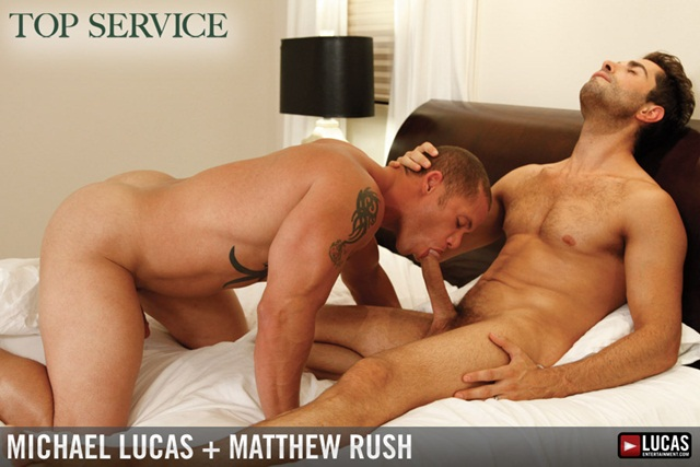 Pornstars Michael Lucas and Matthew Rush Have Intense Sex download free photo gallery from facebook