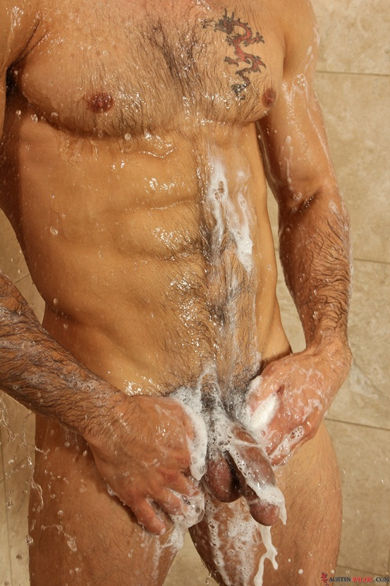 Gay muscle hunks shower
