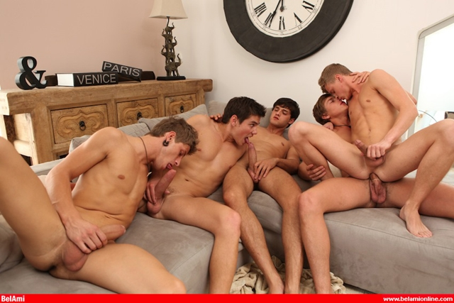 Ass fuckers Max Ryder and The Kinky Angels at Belami Part 2
