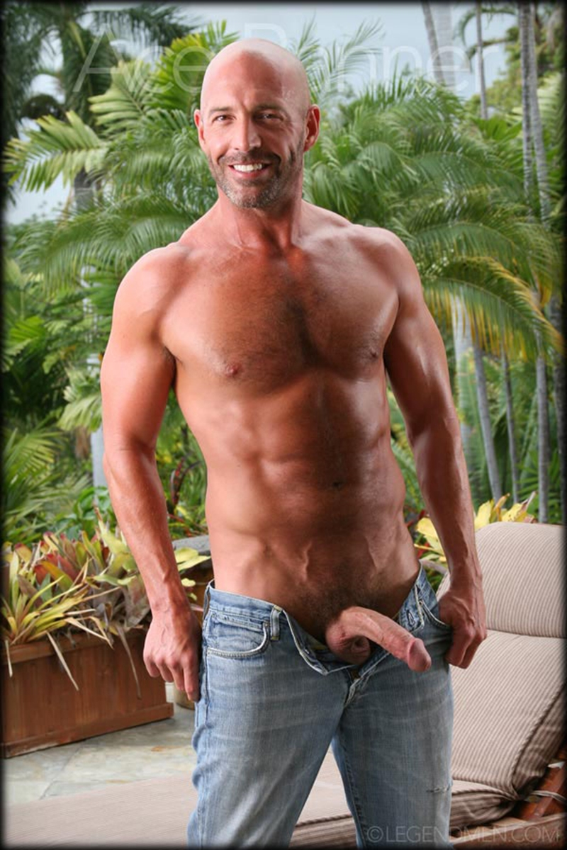 Ace Banner  Legend Men  Nude Big Muscle Bodybuilder -9172