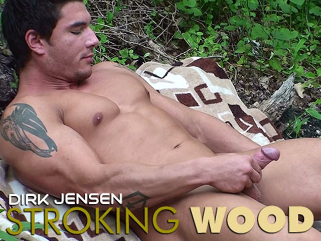 Dirk Jenson stroking wood at Mission 4 Muscle