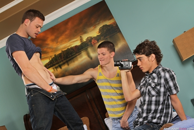 Next Door Twink – Hot young boy threesome Joey Hard, Joey Tiger and Tyler Sweet