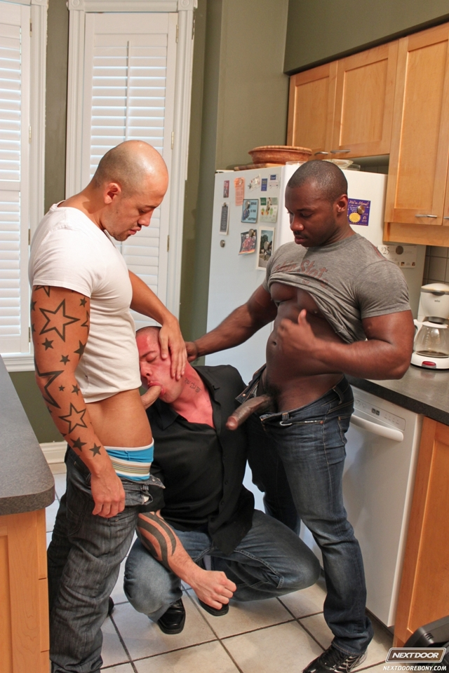 Huge black dick trio with Jordan Deep, Marc Williams and Jordano Santoro at Next Door Ebony