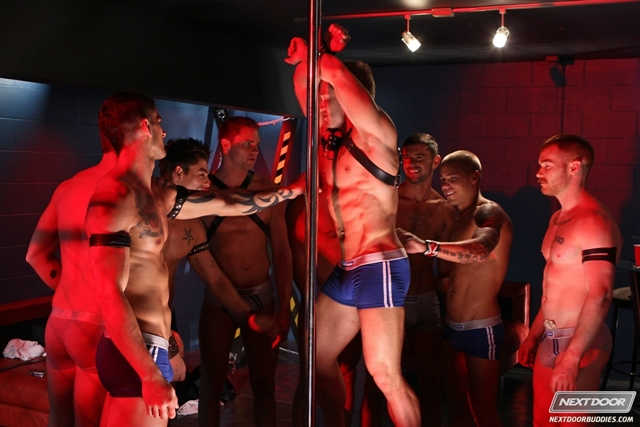 Gay orgy with Tyler Torro, Donny Wright and James Jamesson at Next Door Buddies