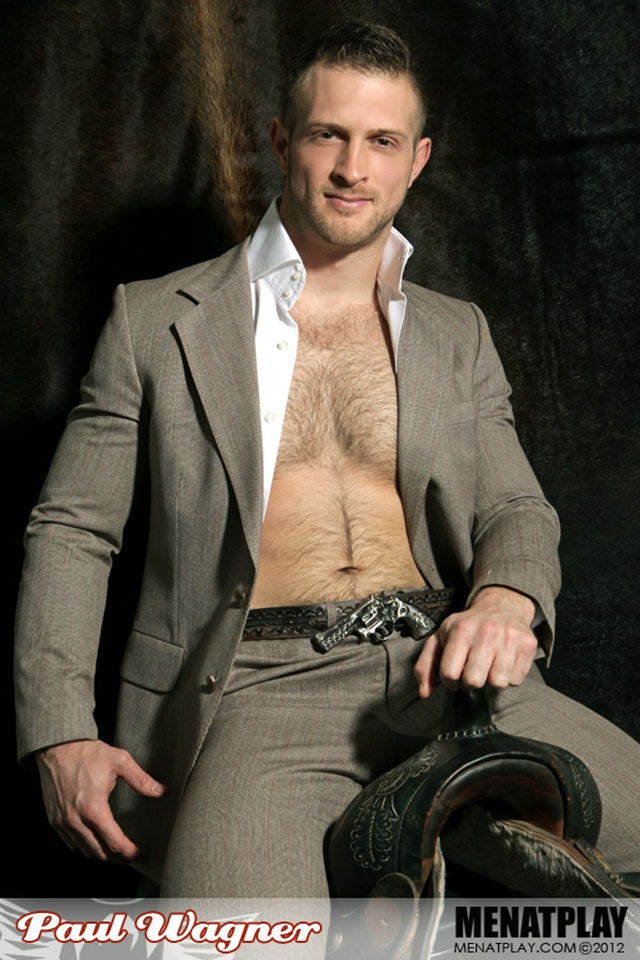 Paul Wagner hairy chested muscle man at Men at Play