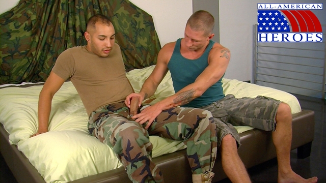 Sexy muscle military men Private Tyler and Infantry specialist Marco