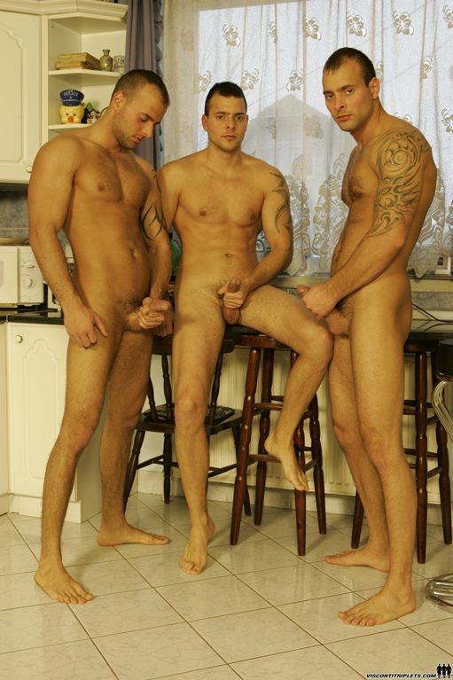 Viconti-Triplets-trio-gay-porn-orgy001-Young-nude-Boy-Twink-Strips-Naked-and-Strokes-His-Big-Hard-Cock-for-at-photo