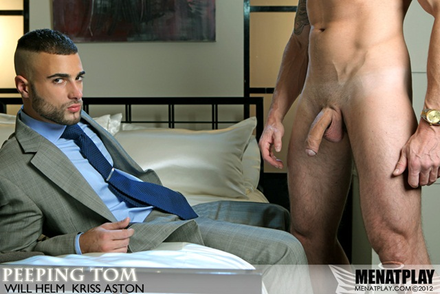 Will Helm gets a taste of monster cock from Kriss Aston