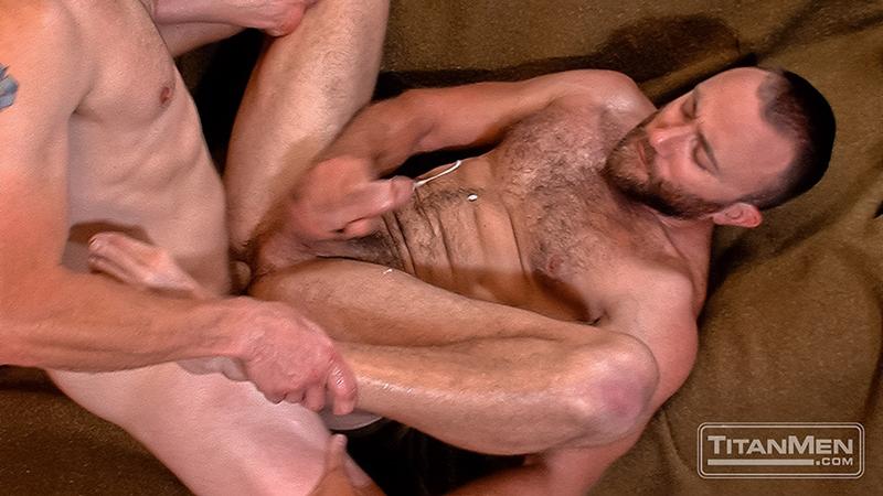 titan men  Adam Herst eats Nick Prescott's hairy hole before fucking him