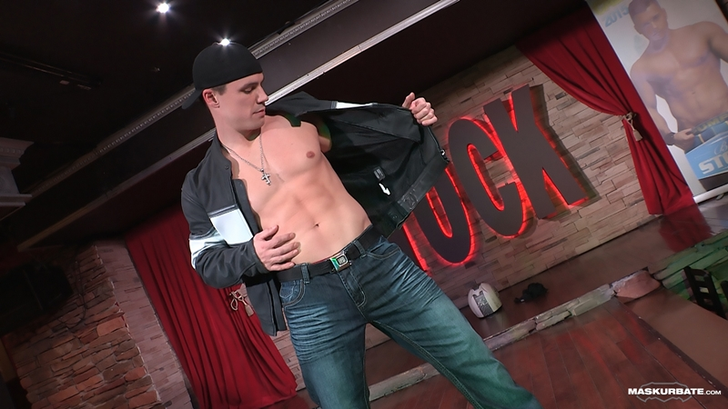 A smooth fitness body and a huge uncut cock makes male stripper Ricky very popular
