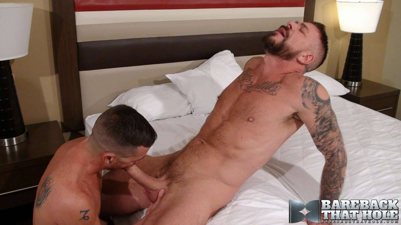 Rocco Steele huge raw cock bareback ass fucking Parker Kane tight bare asshole