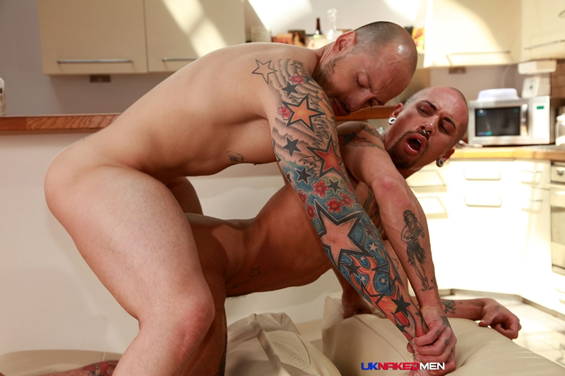 Jordano Santoro's huge raw dick barebacks Alexx Desley's tight asshole
