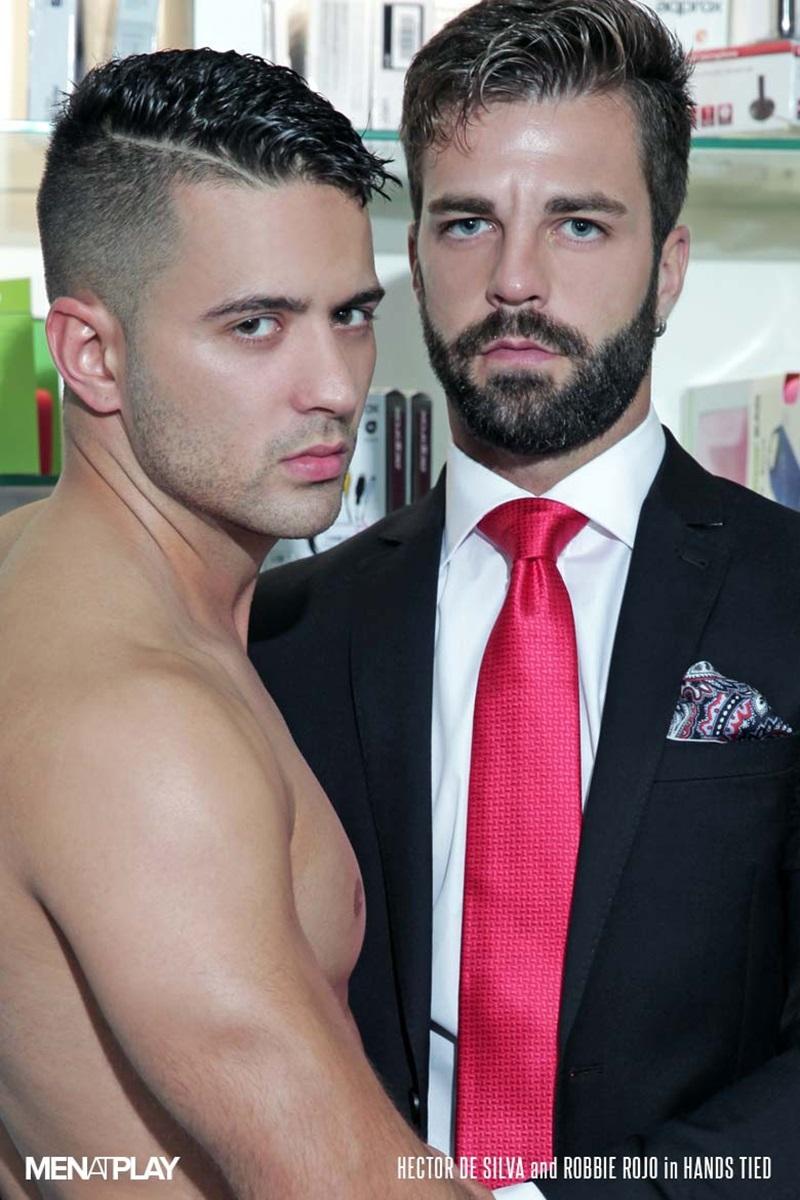 MenatPlay-suited-sex-Robbie-Rojo-sexual-favours-Hector-de-Silva-horny-thick-uncut-Spanish-dick-tongue-deep-rimming-smooth-ass-hole-fucking-02-gay-porn-star-sex-video-gallery-photo