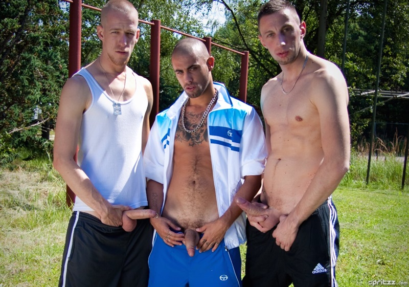 Spritzz hardcore gay threesome with Timo Krupp, Ivan Rueda and Ruben Fux