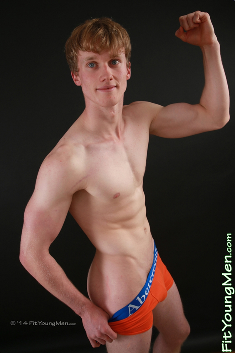 Oscar Whitelaw strips down to his well filled underwear