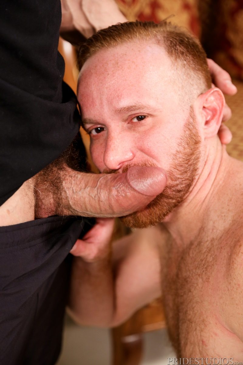Max Sargent sucks Steven Ponce's huge cock then bends him over and rims his tight ass hole
