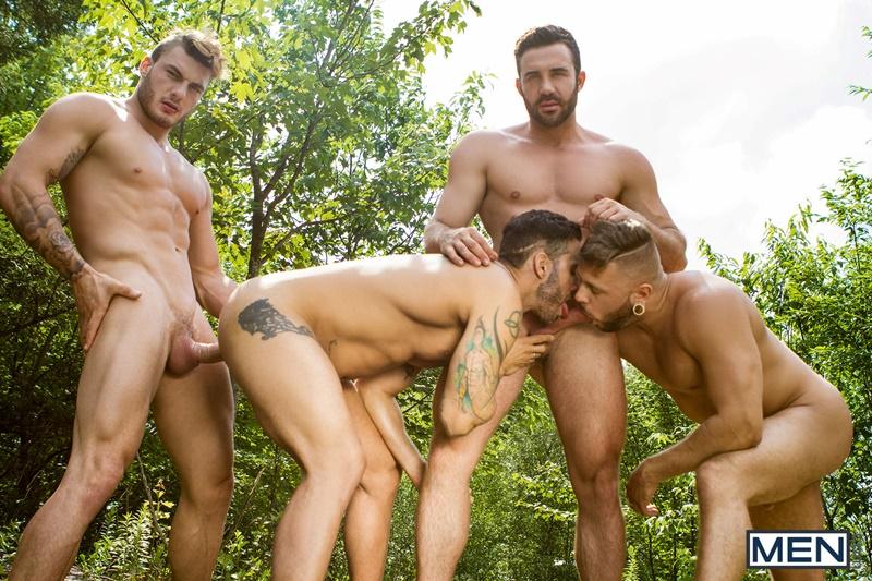 Hardcore ass fucking William Seed, Alexy Tyler, Jessy Bernardo and Mateo Sanchez big cock sucking orgy