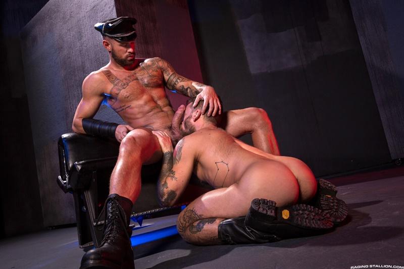 Hot naked muscle dudes Tex Davidson, Michael Roman, Hoytt Walker and Ryan Finch fucking ass orgy