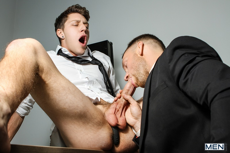 Paul Canon's electric butt plug goes off during job interview with new boss Kit Cohen