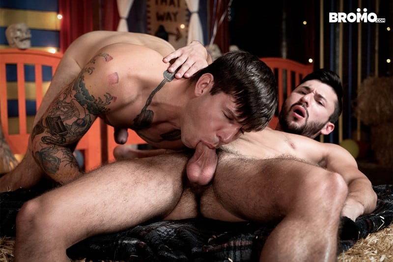Men for Men Blog Buck-Richards-Scott-DeMarco-thick-long-cock-mouth-throat-anal-fucks-Bromo-001-gay-porn-pictures-gallery Buck Richards dick slaps Scott DeMarco in the face before stuffing his thick long cock in his mouth and throat fucks him Bromo