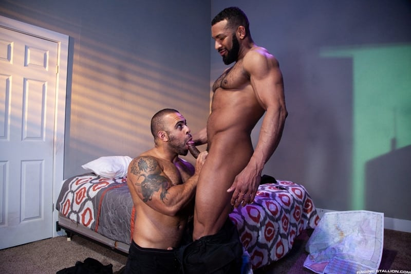 Men for Men Blog Jay-Landford-Lorenzo-Flexx-bareback-fucking-big-black-cock-muscle-ass-hole-RagingStallion-001-gay-porn-pictures-gallery Jay Landford takes ownership of Lorenzo Flexx's hole with passionate kisses and long driving thrusts of his raw glistening cock Raging Stallion