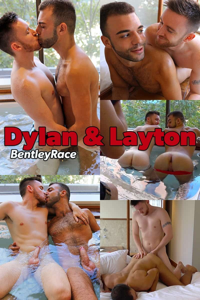 Men for Men Blog Dylan-Anderson-Layton-Charles-hair-hunks-big-cock-sucking-hot-tub-super-hot-fuck-session-BentleyRace-023-gay-porn-pictures-gallery After losing control in the hot tub Dylan Anderson and Layton Charles move to the bedroom for a super hot fuck session Bentley Race