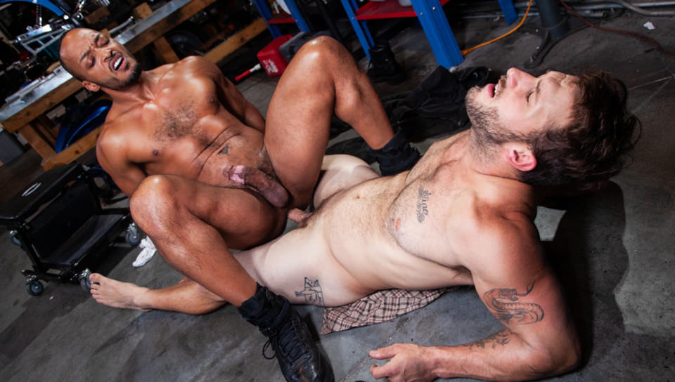 Men for Men Blog 74569_03_01 As Nicholas Ryder pounds Dillon Diaz's hole his cock explodes all over Nicolas' ripped hairy body Raging Stallion