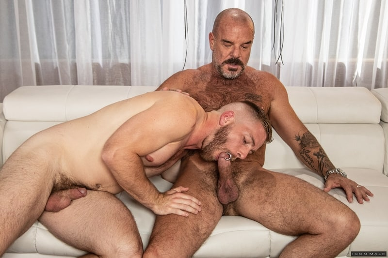 Hairy hunks Jack Dyer and Scott Riley big cock hardcore anal fucking