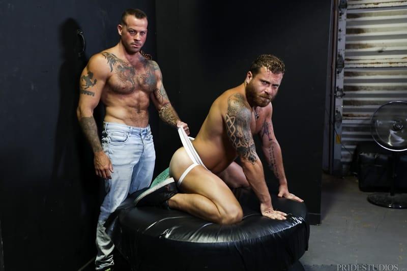 Sean Duran fucks Riley Mitchel's tight bubble ass making him beg for his big dick