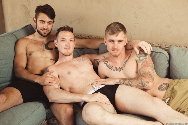 Hardcore ass fucking threesome with Jackson Cooper, Ryan Jordan and Dante Colle big dick sucking