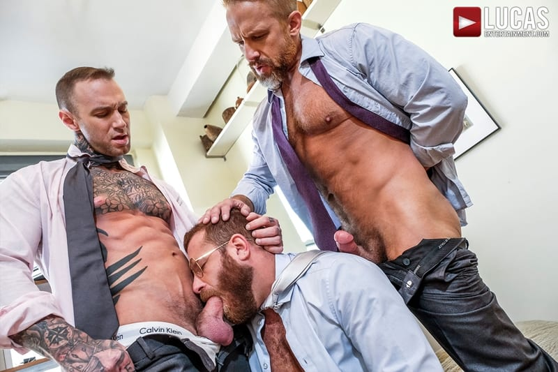 Riley-Mitchel-services-his-bosses-Dylan-James-and-Dirk-Caber-LucasEntertainment-001-Gay-Porn-Pics