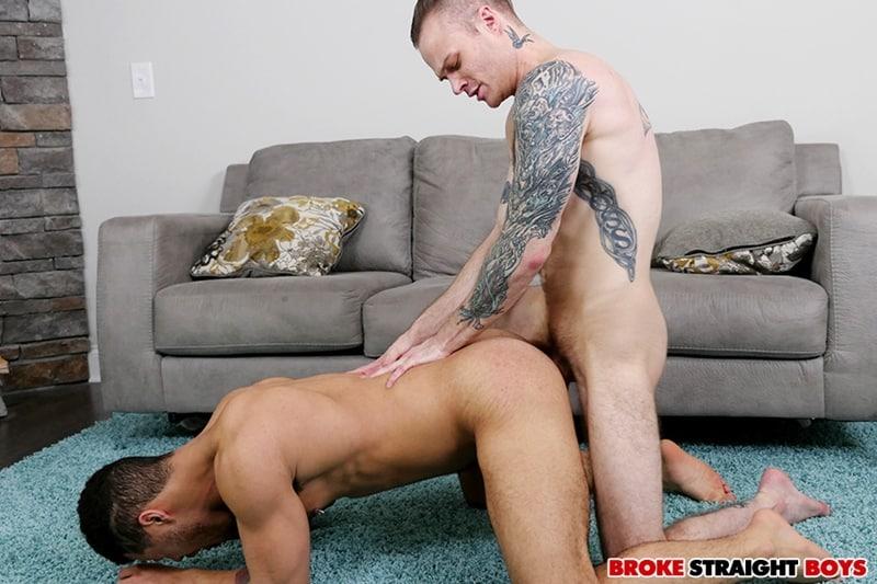 Straight boys Malakai White chokes and gags on Cody Smith's long cock