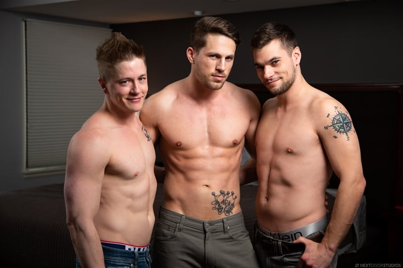 Hardcore big cock threesome Roman Todd, Chris Blades and Princeton Price anal fuck orgy