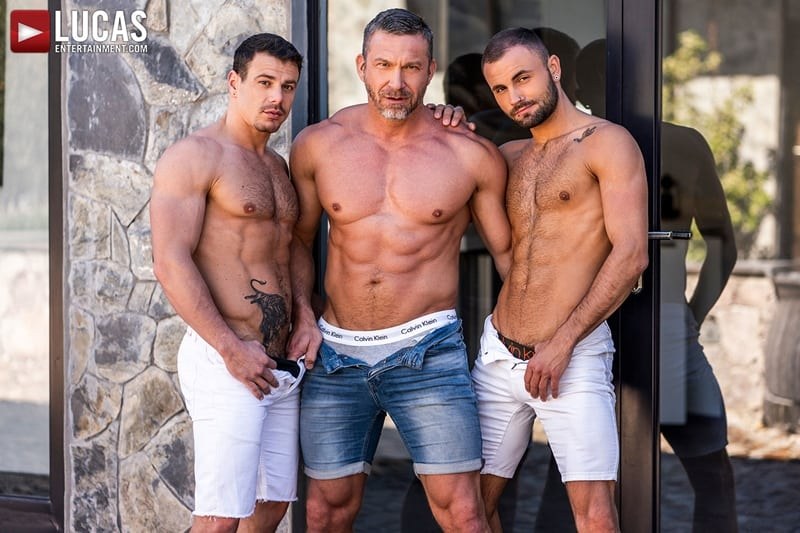 Big muscle dude Tomas Brand gets his hole pounded by both Jesse Santana and Jeffrey Lloyd