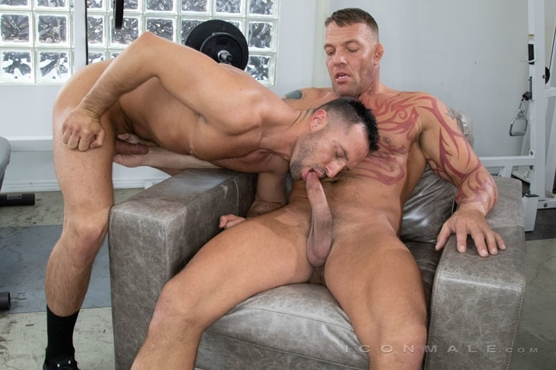 Colby Tucker's hot bubble butt asshole fucked hard by big muscle daddy Tristan Brazer's huge cock