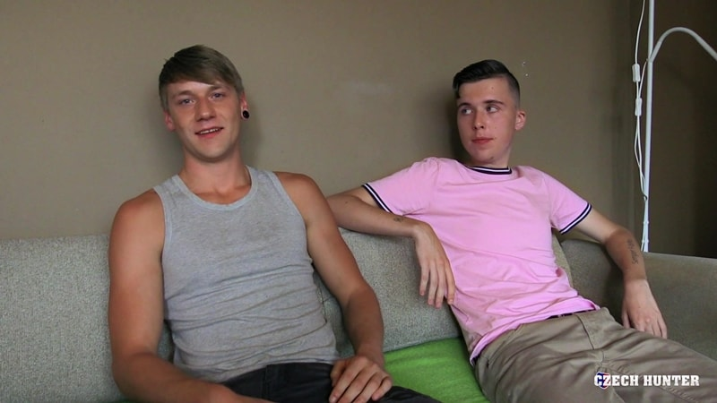 Czech Hunter 475 young straight dudes first time anal and me makes three