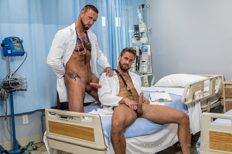 Horny doctors Michael Roman and Wesley Woods hardcore big dick anal fucking